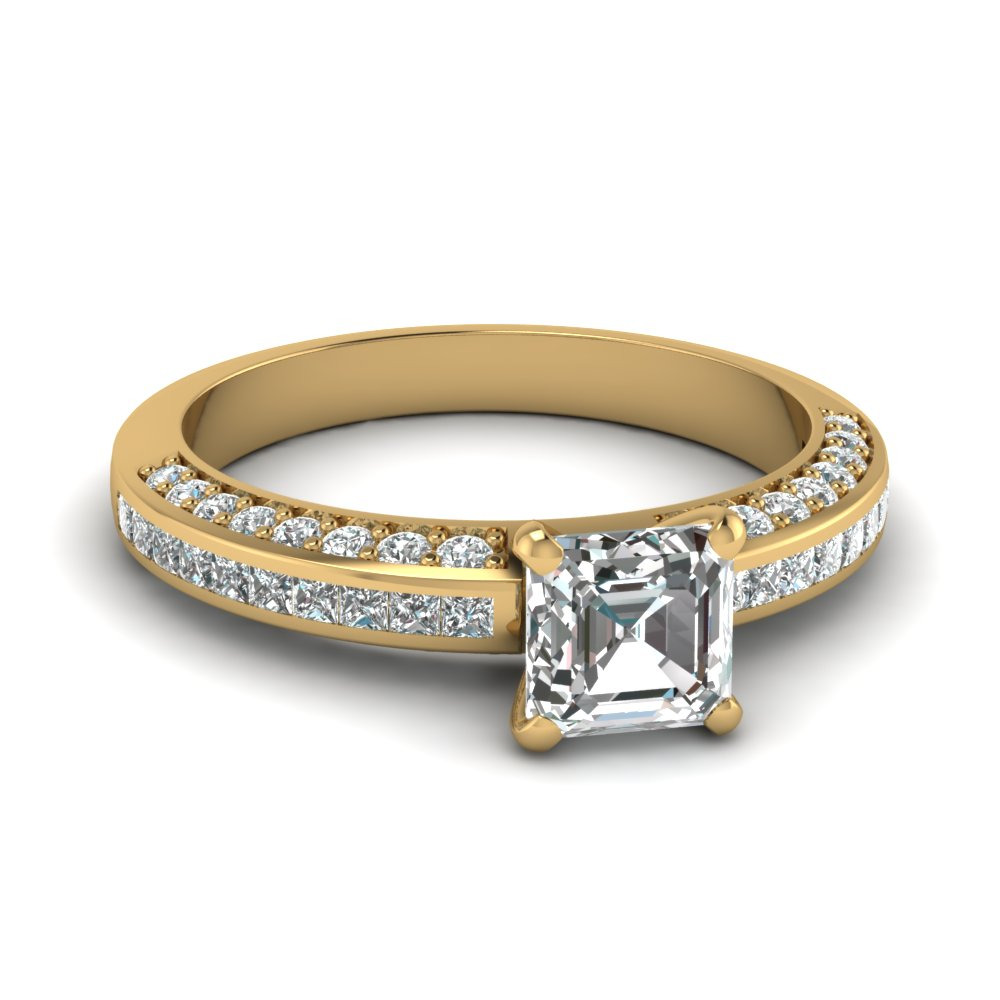 asscher cut diamond accent ring in FDENS3020ASR NL YG.jpg