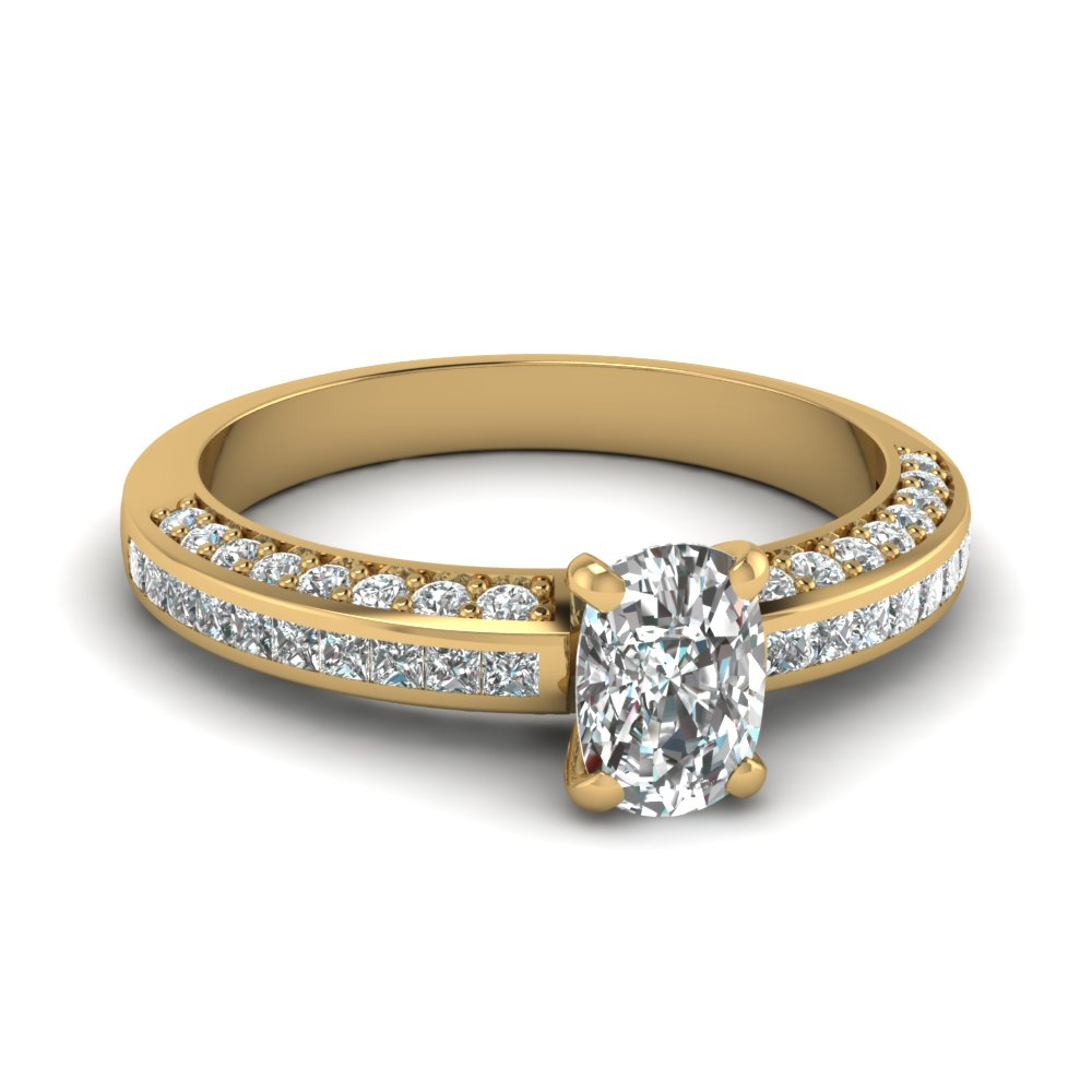 cushion cut diamond accent engagement ring in FDENS3020CUR NL YG.jpg