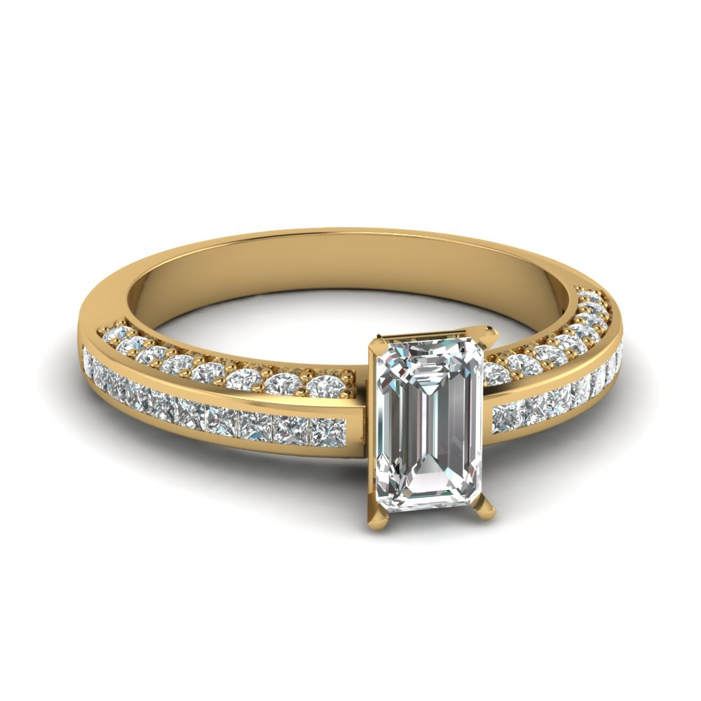 emerald cut diamond accent ring in FDENS3020EMR NL YG.jpg