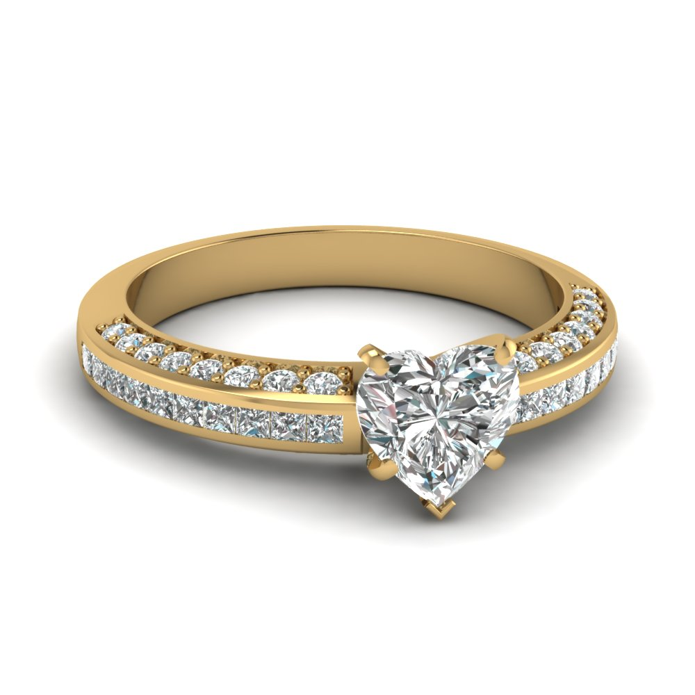 heart shaped diamond accent engagement ring in FDENS3020HTR NL YG.jpg