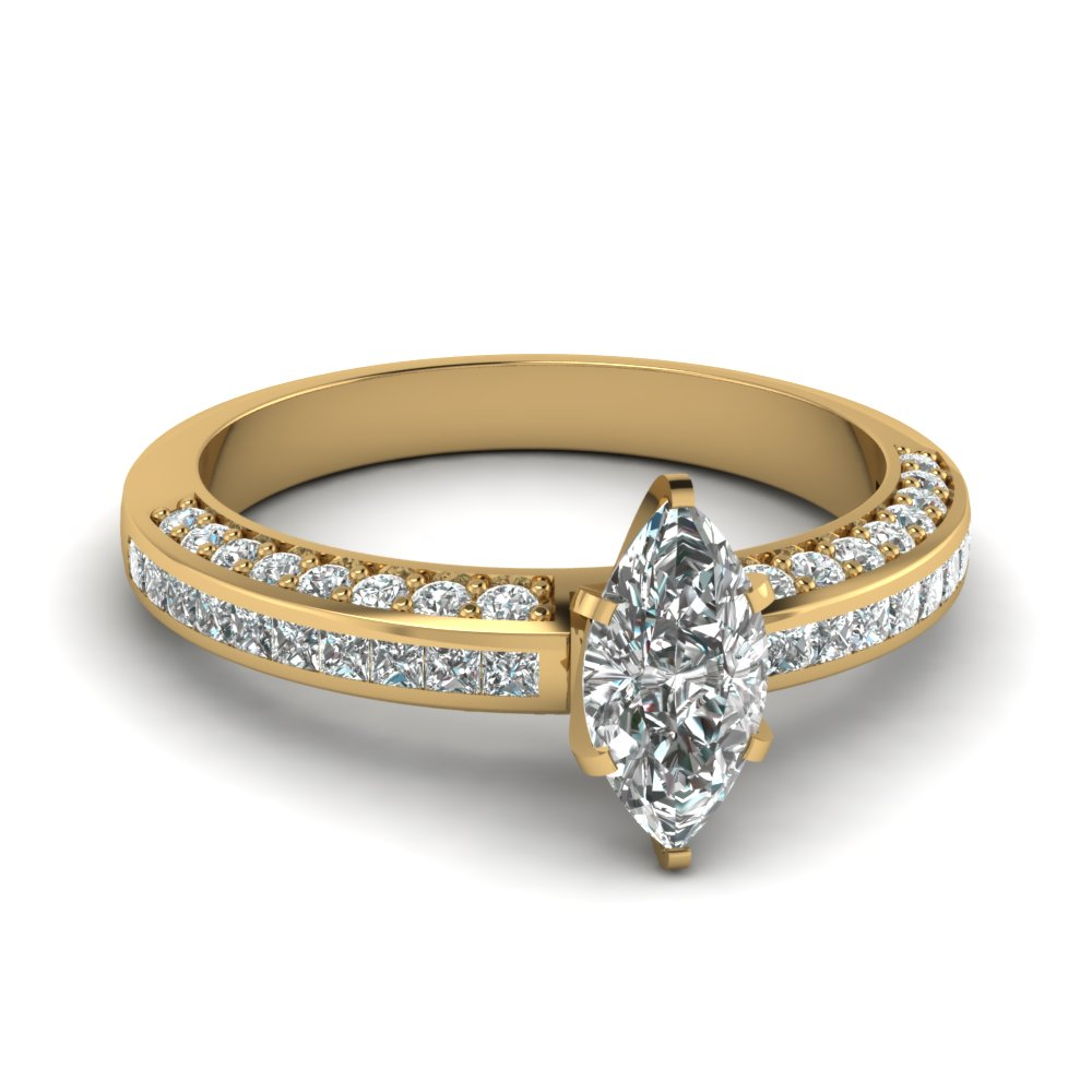marquise shaped diamond accent ring in FDENS3020MQR NL YG.jpg