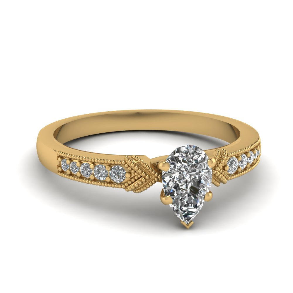 Pave Diamond Milgrain Ring