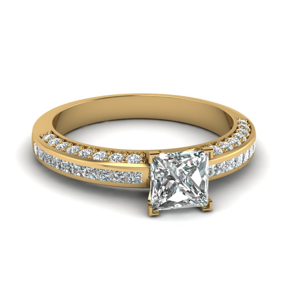 princess cut diamond accent ring in FDENS3020PRR NL YG.jpg