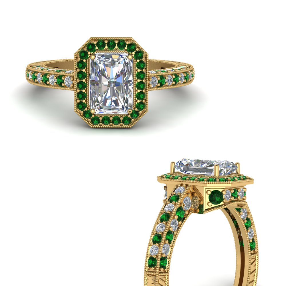 vintage-halo-radiant-cut-diamond-engagement-ring-with-emerald-in-FDENR6543RARGEMGRANGLE3-NL-YG