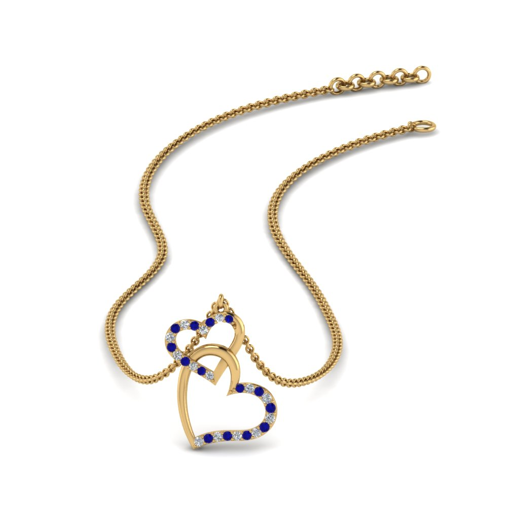 diamond-interlocked-heart-necklace-with-sapphire-in-FDHPD328GSABL-NL-YG