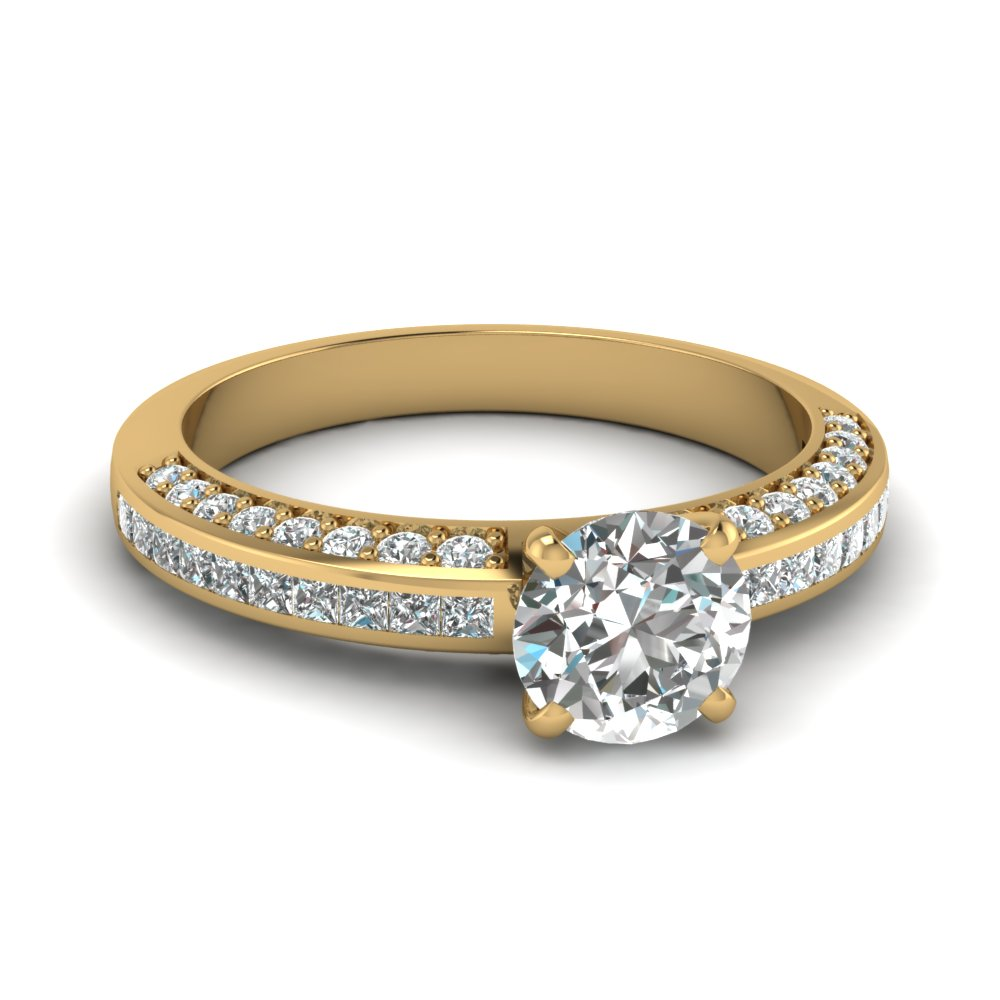 round cut diamond accent engagement ring in FDENS3020ROR NL YG.jpg