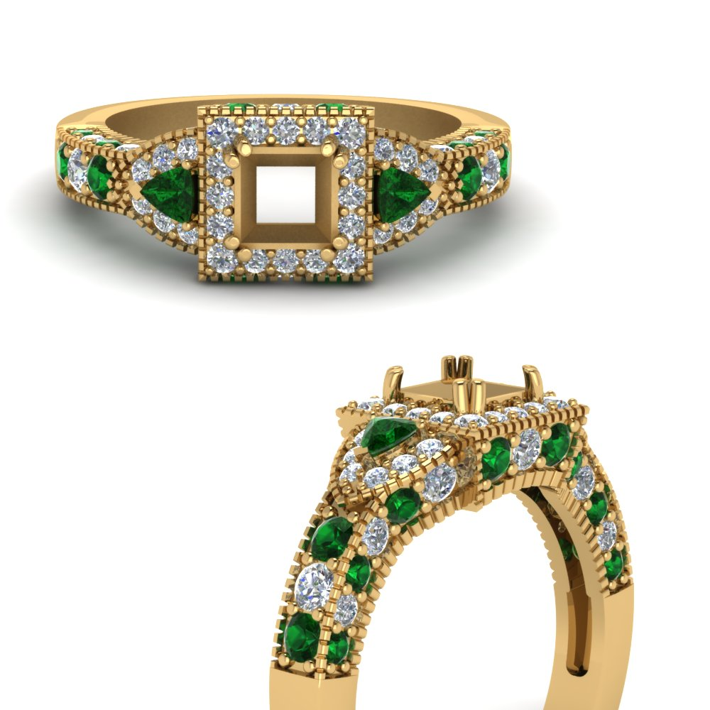 trillion-halo-semi-mount-diamond-engagement-ring-with-emerald-in-FDENR7784SMRGEMGRANGLE3-NL-YG