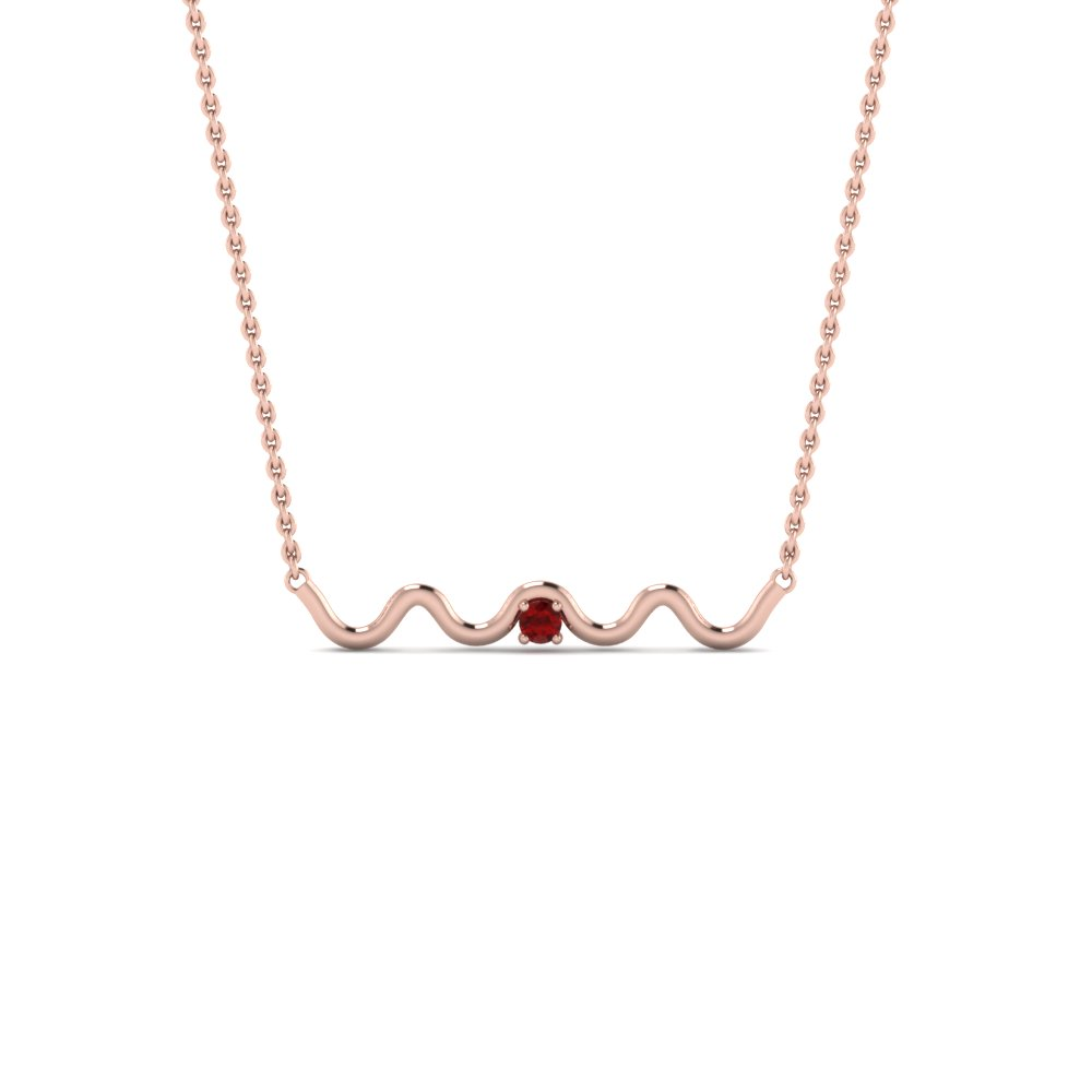 Zig zag single ruby pendant necklace in 14k rose gold fascinating zig zag single ruby pendant necklace in fdpd86527grudr nl rg aloadofball Gallery
